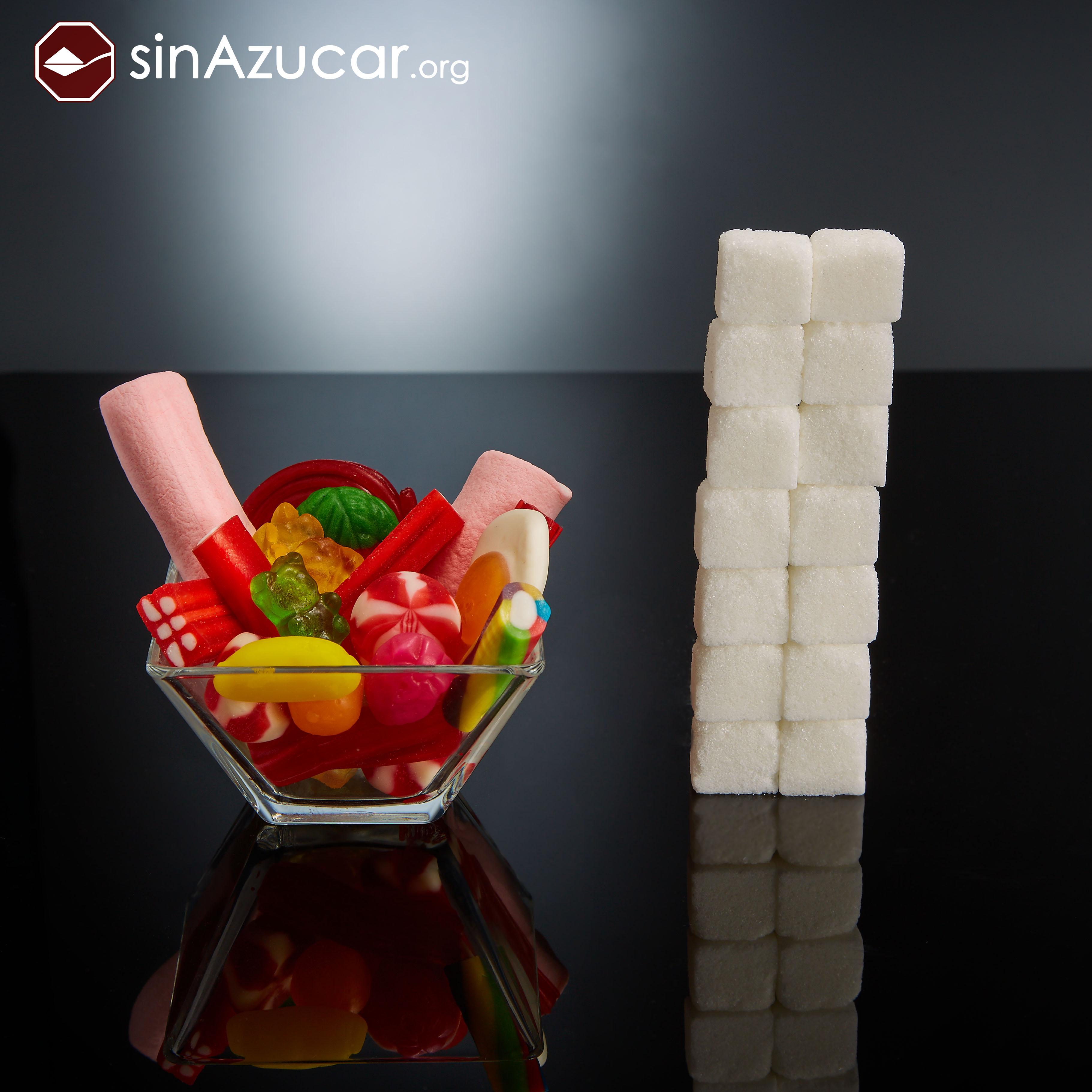 gomas quantidade de açúcar