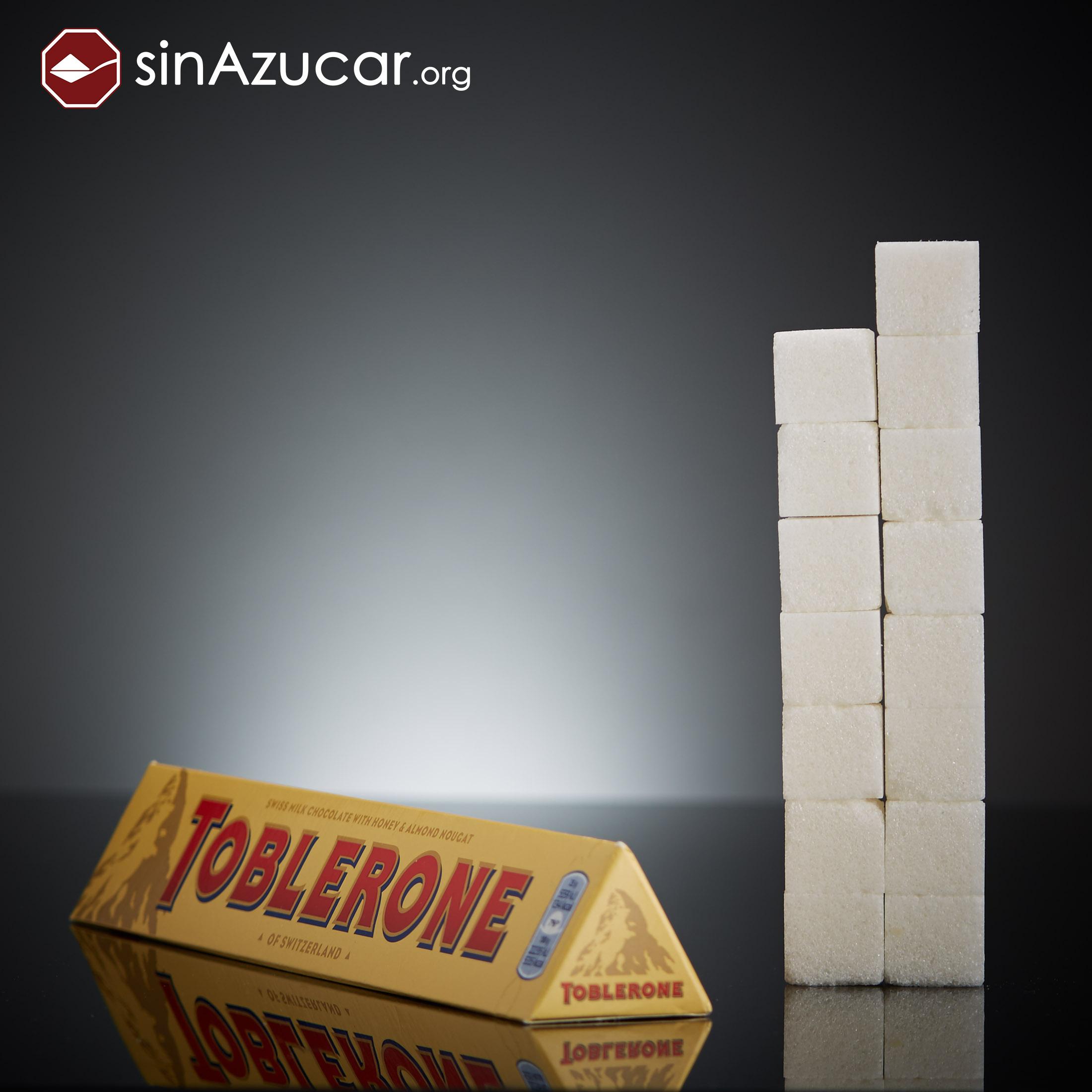 Toblerone quantos gramas de açúcar tem