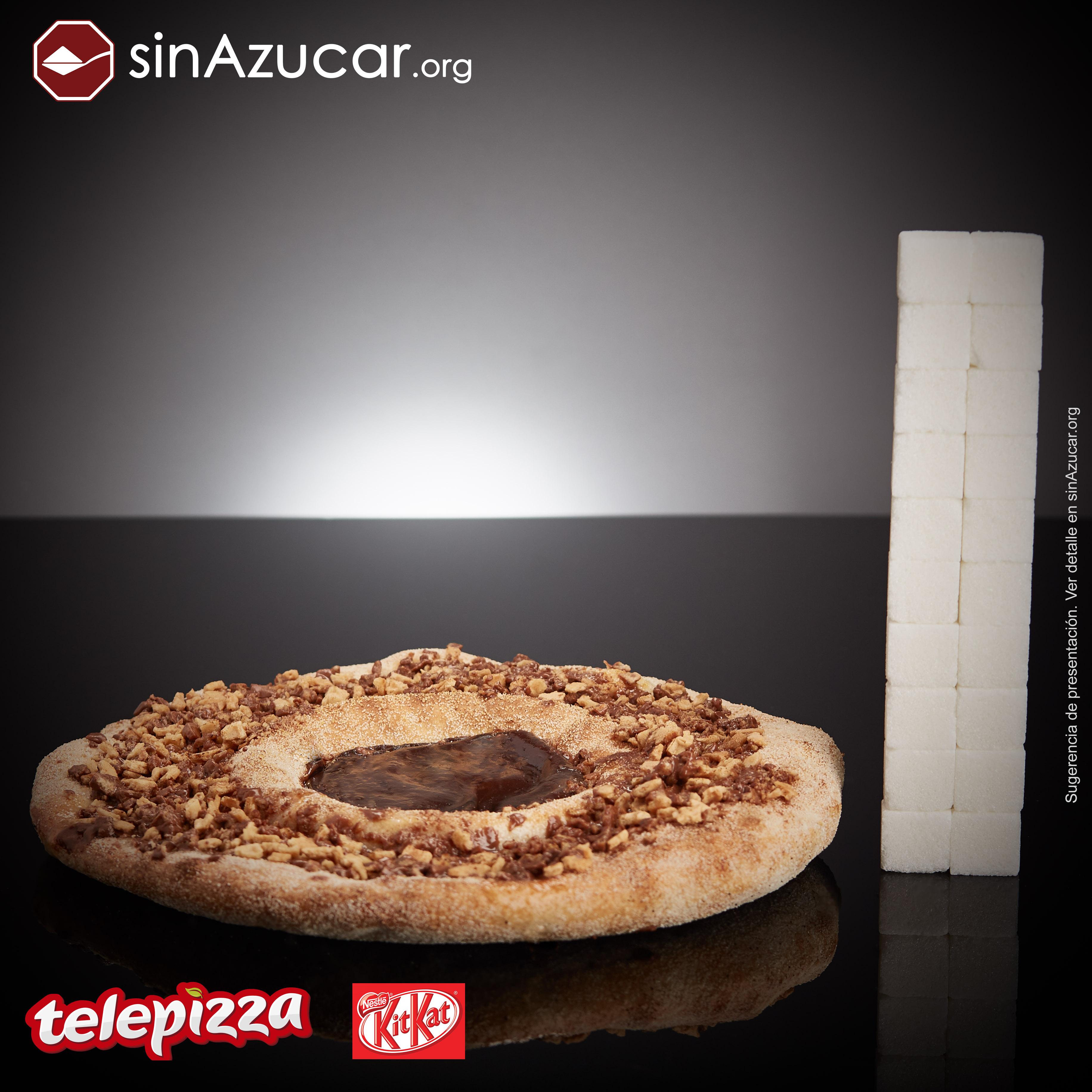 pizza Telepizza quantidade de açucar