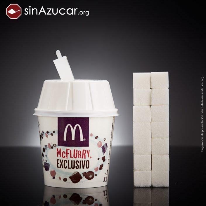 McFlurry quantidade de açúcar