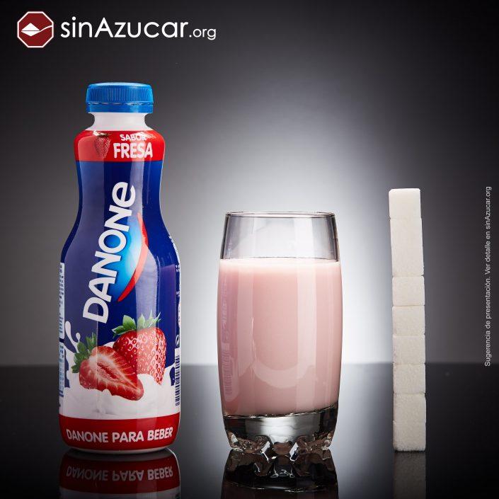 iogurte para beber quantidade de açúcar