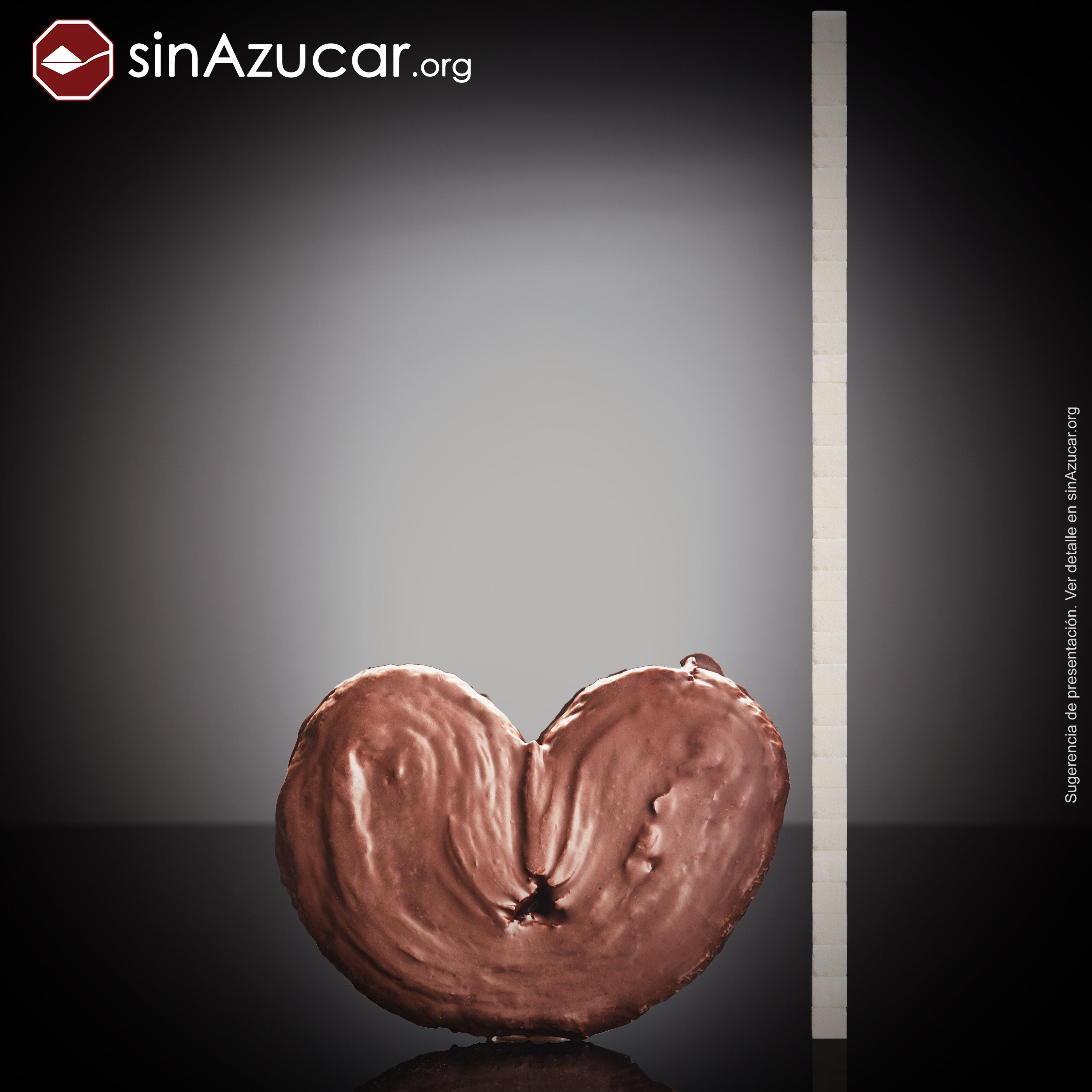 Una palmera de chocolate XXL (450g) tiene 132g de azúcar, equivalente a 33 terrones.